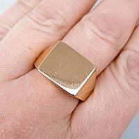 Кольцо xuping 21р печатка мужская 1.3см позолота 18К медзолото м268, фото 1