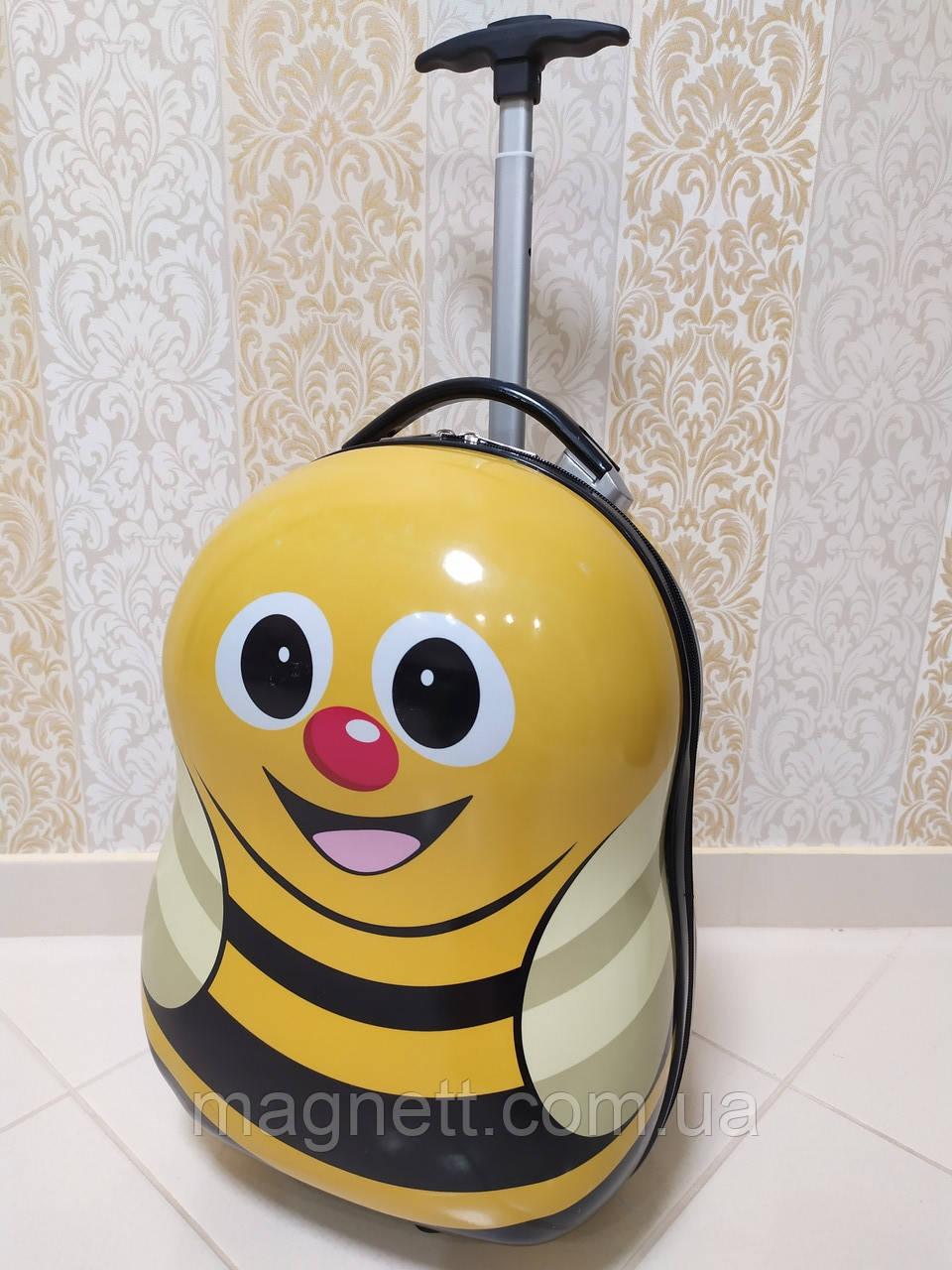 Детский чемодан на 2 колесах 45*30*25см Желтая Пчелка