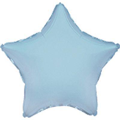 """Фольгированный шар ФМ 9"""" звезда звезда пастель blue"""