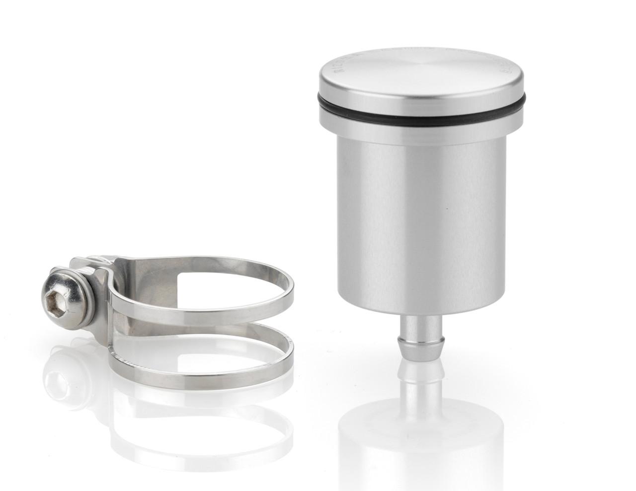 Универсальный бачок для тормозной жидкости Rizoma Fluid tank прямой серебро