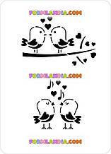 Трафарет для пряников Птички-романтички