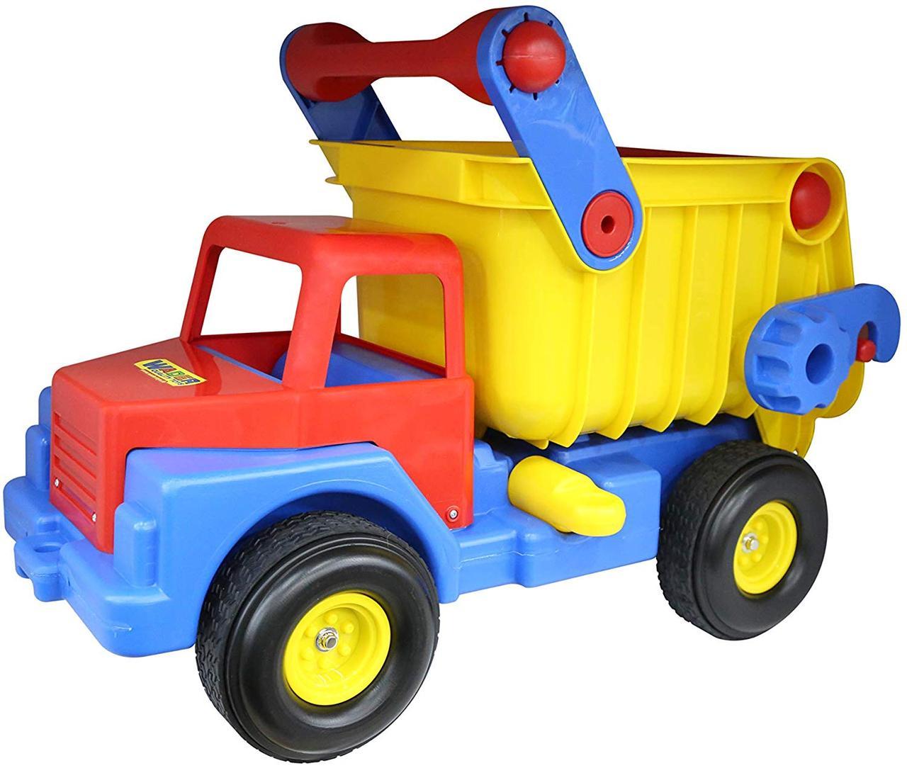 Игрушечный самосвал с резиновыми колесами Wader 37916