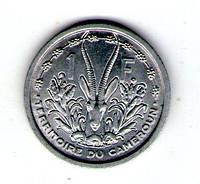 Французский Камерун 1 франк 1948 год алюминий