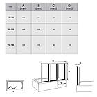 Штора для ванны сложная Ravak VS3 Rain трёхэлементная, фото 2