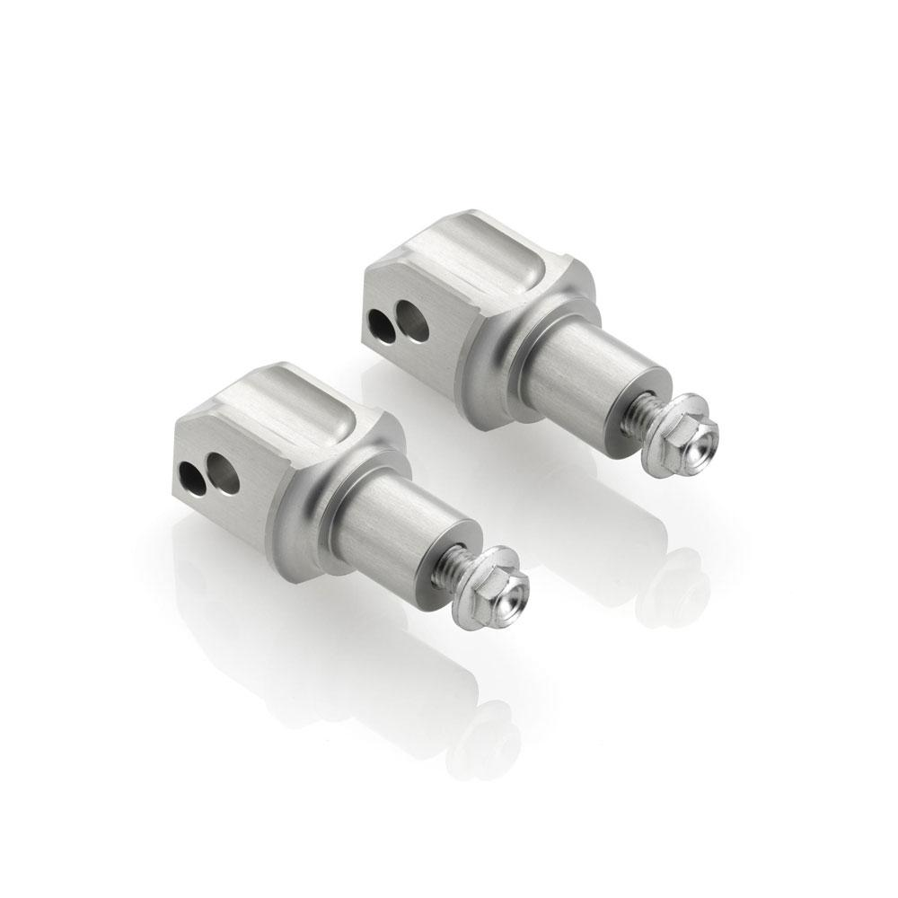 Адаптеры подножек Rizoma Pegs adapter kit для BMW серебристые (пара)