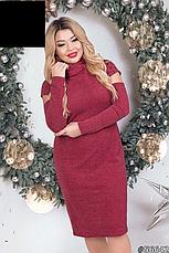 Платье женское трикотажное размеры: 48-56, фото 2