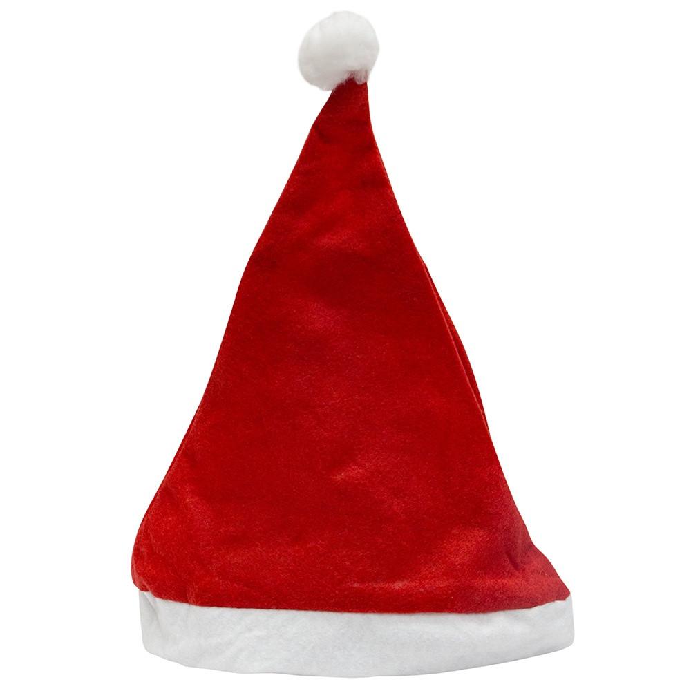 Красная шапка деда мороза (велюр, флис)