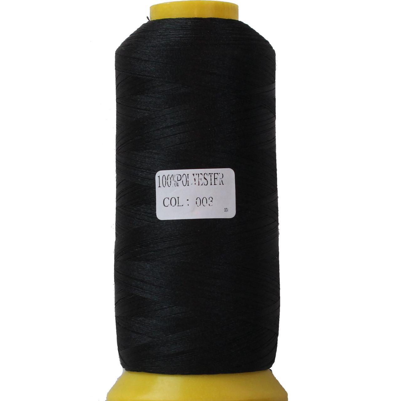 Нить полиэстер 40, 120D/2, цвет 003, Козачок-ТМ