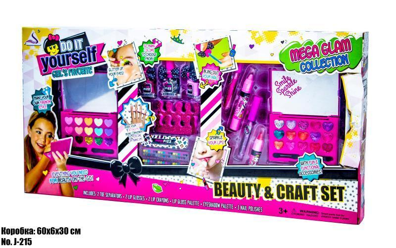 Набор детской косметики J-215 для макияжа и маникюра