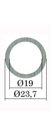 Ø 23,7х19 мм (B25) Регулировочная шайба форсунки Common Rail Bosch. h= 0,01 мм. 0,90-1,19 мм. 300 шт.