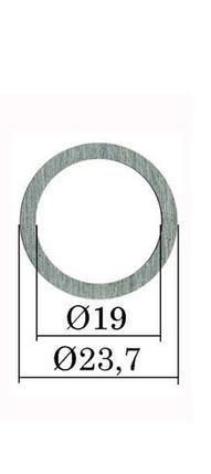 Ø 23,7х19 мм (B25) Регулировочная шайба форсунки Common Rail Bosch. h= 0,01 мм. 0,90-1,19 мм. 300 шт., фото 2