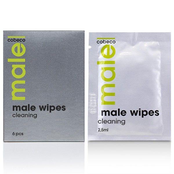 Очищающие салфетки для мужчин MALE Cobeco Wipes Cleaning (6x2,5ml)