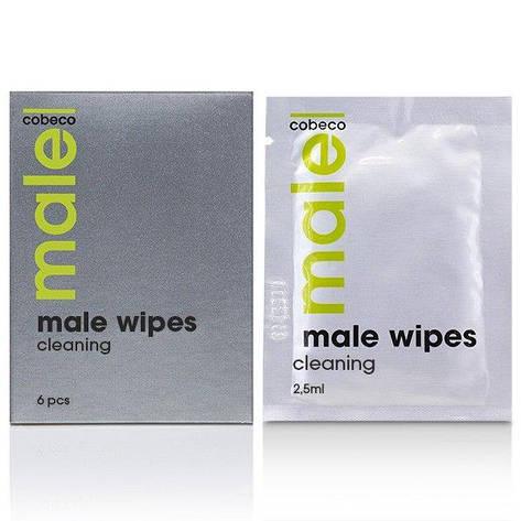 Очищающие салфетки для мужчин MALE Cobeco Wipes Cleaning (6x2,5ml), фото 2