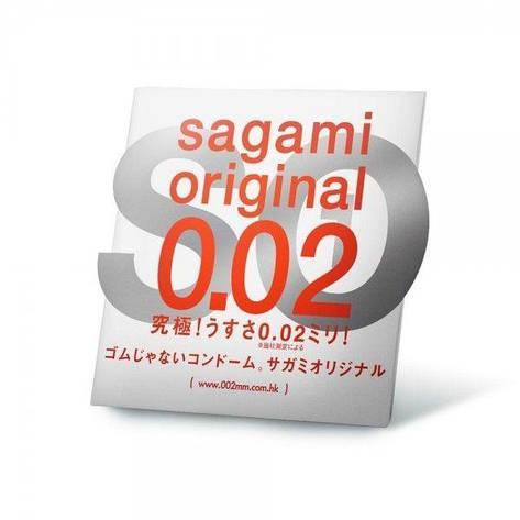 Полиуретановые презервативы Sagami Original 0.02мм, 1 шт, фото 2