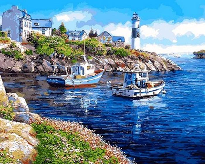 Картина за номерами 40х50см Mariposa Turbo Морська бухта