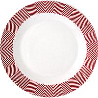 Тарелка красная обеденная Модерн 20 см
