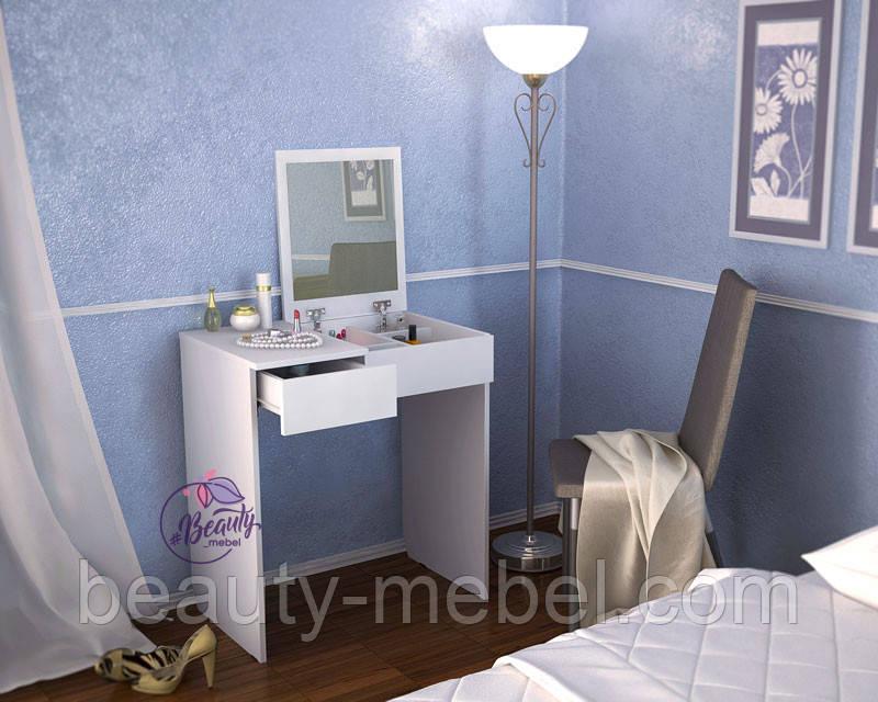 Туалетный столик для макияжа с зеркалом, белый