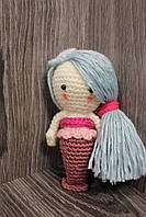Мягкая вязаная  игрушка ручной работы Русалка 13*7 см для детей