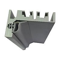 Алюминиевая коробка для стеклянной двери L - образная (без наличника)