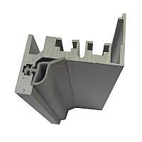Алюминиевая коробка для стеклянной двери  Z - образная (с наличником)