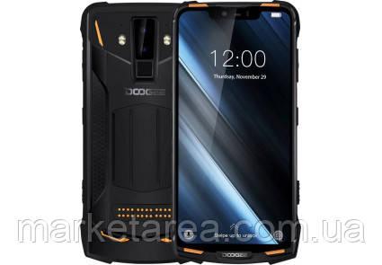 Смартфон защищенный оранжевый с большим дисплеем и мощной батареей на 2 сим карты Doogee S90 orange 6/128 NFC