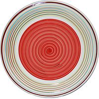 Тарелка Полоска красная 26 см
