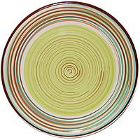 Тарелка Полоска зеленая 26 см