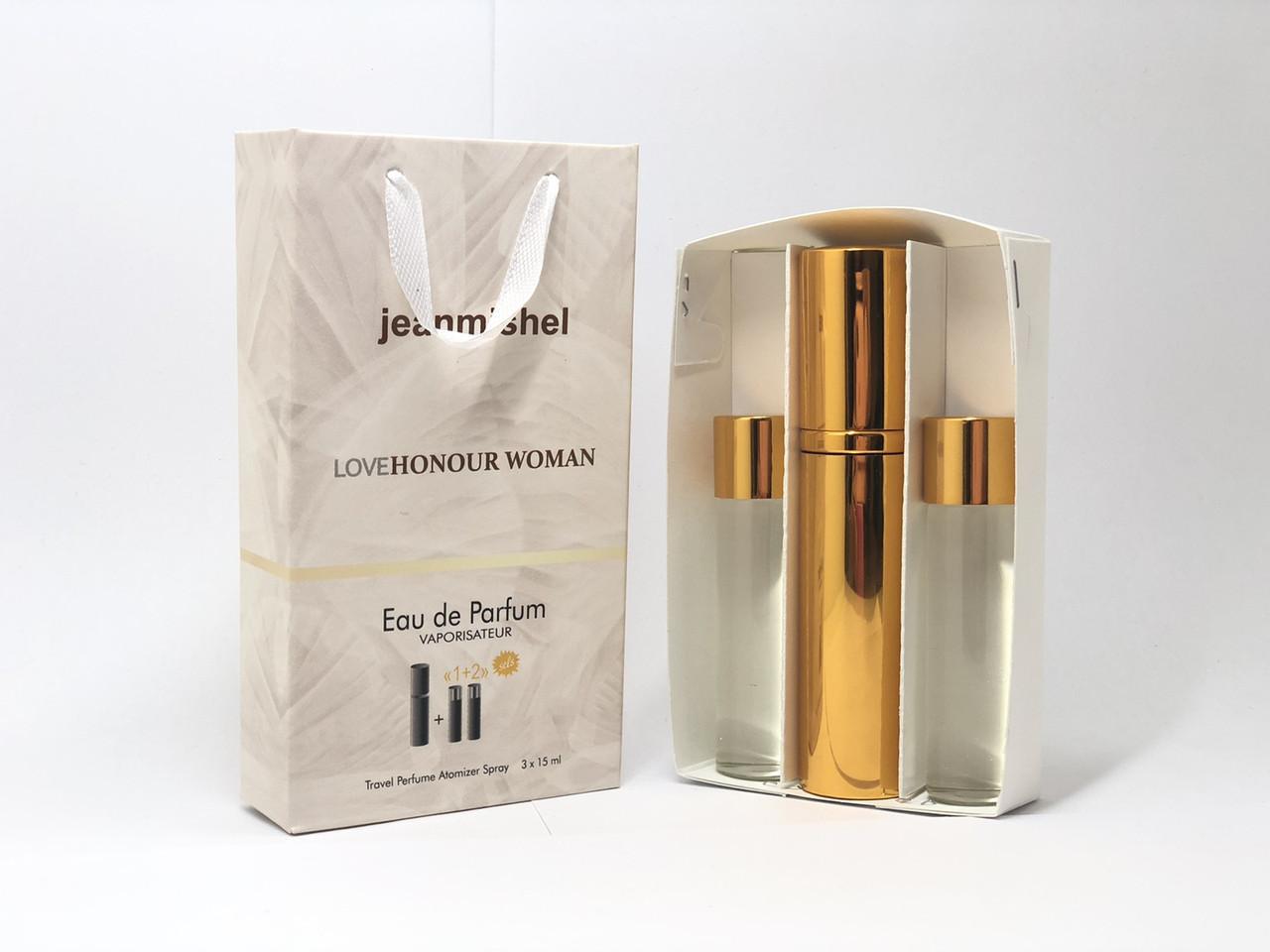 Подарочный набор духов Jeanmishel Honour for Woman (Жанмишель Хонор Вумен) 3 по 15 мл