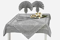 """Льняной столовый комплект """"Амулет"""" на 4 персоны (скатерть 100 на 100 см), фото 1"""