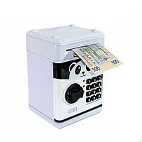🔝 Игрушечный детский сейф с электронным кодовым замком для детей (Панда) копилка детская с доставкой | 🎁%🚚