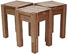 Обідній комплект стіл кухонний обідній і 4 табуретки з масиву дерева 008, фото 3
