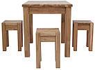 Обідній комплект стіл кухонний обідній і 4 табуретки з масиву дерева 008, фото 4