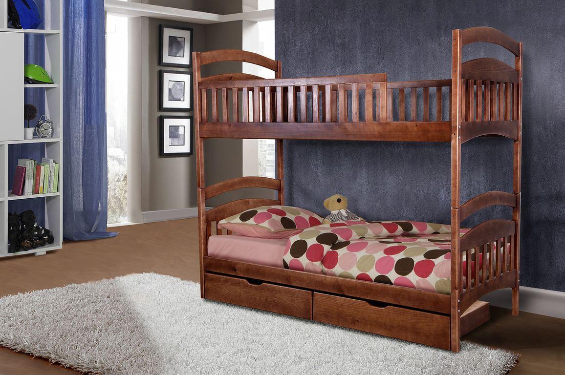 Ліжко дерев'яна двоярусна підліткова Кіра.