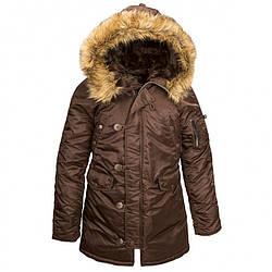 Куртка Alpha Industries (Аляска) N3-B Women Parka Коричневый