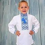 """Вышиванка детская для мальчика """"Грицько"""" с Синей вышивкой, 122 (рост), фото 2"""