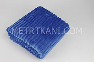 Minky Stripes плюш синего цвета 100*80см  №с-20