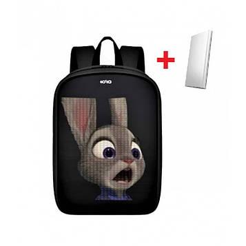 LED Рюкзак с анимационным дисплеем ID&ND A1 2019 (черный) + Powerbank в подарок