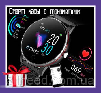 Смарт часы с тонометром, измерение уровня кислорода в крови Smart Watch умные часы