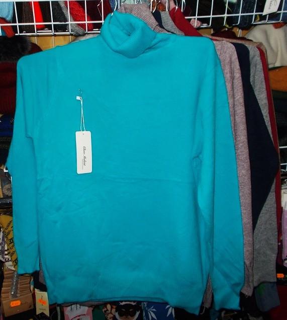 Гольф женский шерстяной отличное качество №6676 размер 44-50 голубой