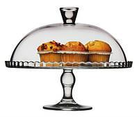 Блюдо Pasabahce тортовница подставка для торта Patisserie с крышкой Ø322мм 1шт (95200)