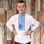 """Вышиванка детская для мальчика """"Даниил"""" с Синей вышивкой, 122 (рост), фото 2"""