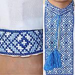 """Вышиванка детская для мальчика """"Даниил"""" с Синей вышивкой, 122 (рост), фото 3"""