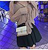 Белая с какаовым сумка черная через плечо, фото 7