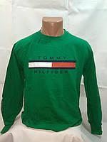 Батник мужской двунитка Турция зеленый XL