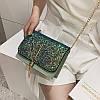 Блестящая зеленая сумочка с косточкой через плечо, фото 7