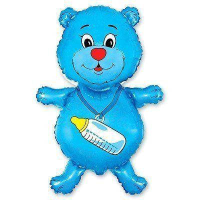 Фольгированный шар ФМ медвежонок мальчик