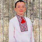 """Вышиванка детская для мальчика """"Руслан"""" с Красной вышивкой, 104 (рост), фото 2"""