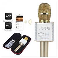 Беспроводной микрофон-караоке Q8 цвет (золотистый)