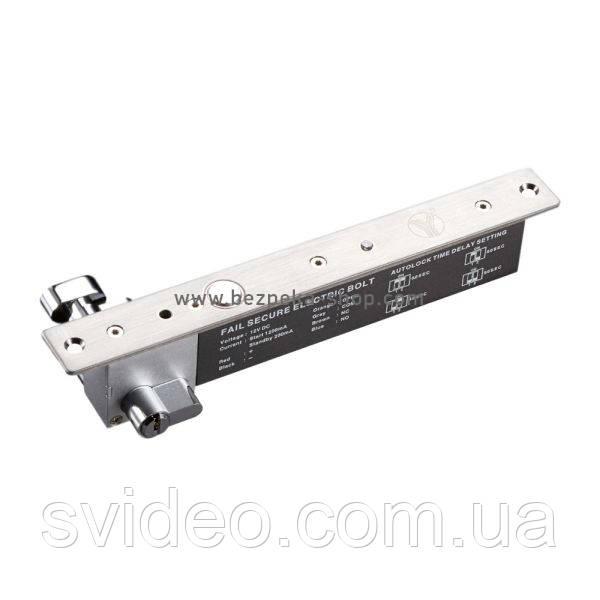 Ригельный замок YB-600A(LED) врезной для системы контроля доступа