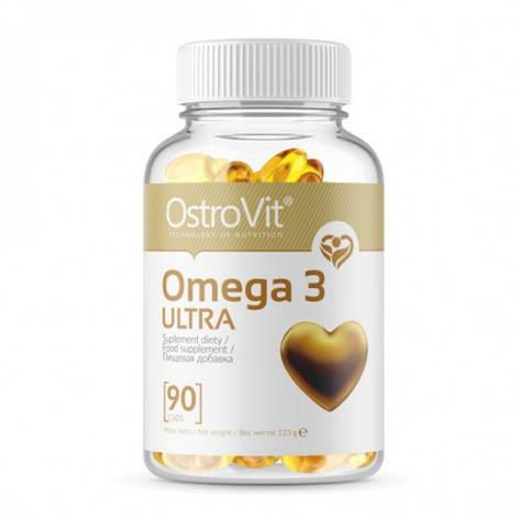 Рыбий жир OstroVit Omega 3 Ultra (90 капс), фото 2